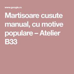 Martisoare cusute manual, cu motive populare – Atelier B33