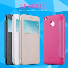 NILLKIN Original Sparkle leather case Fashion Ultra Thin Flip View Window Smart Cover for Xiaomi redmi 4X (5.0 inch) bag #Affiliate