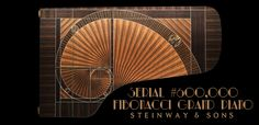 Steinway & Sons recently unveiled their piano and it's absolutely stunning. Designed by the famed Frank Pollaro, the piano is named The Fibonacci after the mathematical sequence, picturing the iconic spiral on its veneer. The Piano, Grand Piano, Piano Bar, Fibonacci Spiral, Golden Ratio, Art Case, London Art, How To Find Out, Rock