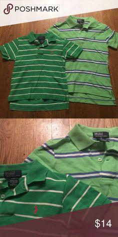 2 boys Ralph Lauren polo green shirts Dark green shirt is boys 3T light green shirt is size five in very good condition Polo by Ralph Lauren Shirts & Tops Polos