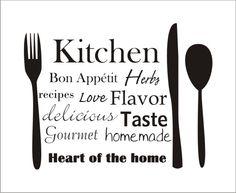 Kitchen Wall Vinyl Quote