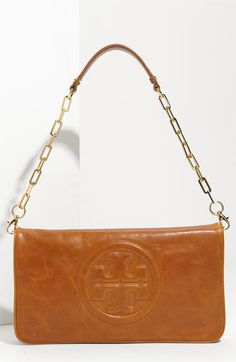b6c57cd9d6 tori burch Reva clutch--birthday wish! Tan Clutch, Clutch Purse, Leather