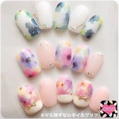 Water color nails..