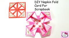 DIY Napkin Fold Card for scrapbook/Tutorial for Scrapbook/tutorial for E...