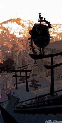 San Fransokyo - Tadahiro Uesugi's art work for BIG HERO 6