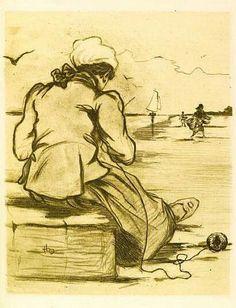 Les Femmes de la Mer.   Henri Boutet
