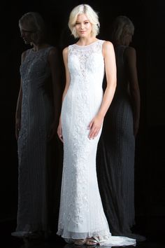 8694d3bf070 Channel your inner goddess in Scala This sheath dress features a deep  plunging sweetheart neckline