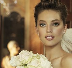Like the makeup. Pronovias- such beautiful dresses on this site