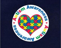 Heart Autism Awareness Button Pin (RETAIL) (RE-P-20HRT-2)
