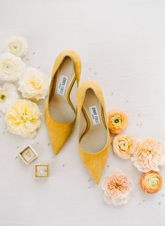 Jimmy Choo pumps for wedding day at Annadel Estate Winery with The Mrs. Yellow Wedding Shoes, Types Of Gowns, Traditional Gowns, Bridal Skirts, Wedding Dress Trends, Wedding Ideas, Wedding Poses, Wedding Pictures, Wedding Bride