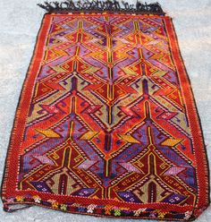 VINTAGE Wool Rug - Turkish decorative kilim, , Bohemian Home Decor, Antique kilim rug,