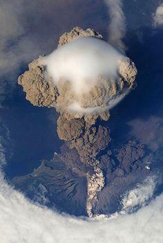 Sarychev Peak Volcano erupts on Matua Island | Sarychev Peak Volcano erupts June 12, 2009, on Matua Island, in the Kuril Islands, just south of Kamchatka Penninsula.