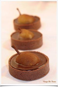Tartelettes poires-chocolat façon Belle-Hélène