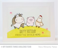 The Whole Herd, Cross-Stitch Rectangle STAX Die-namics - Vera Wirianta Yates  #mftstamps
