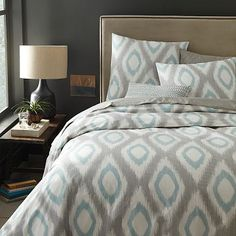 Organic Ikat Diamond Duvet Cover + Shams