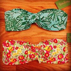 Lilly Pulitzer bikini tops... I'm in love