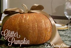 This simple glitter pumpkin tutorial makes for beautifully elegant fall decor.