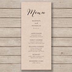free printable menu templates download