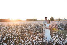 Fall Wedding, Southern Wedding, Farm Wedding, Rustic Wedding, Cotton Fields, Sunset, Allure Bridal, Men's Warehouse; Oak Level Farm