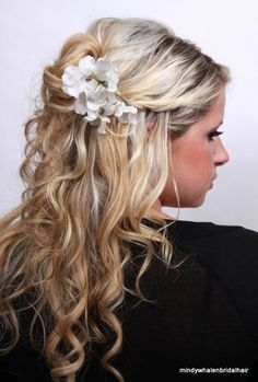 Love the curly/wavy hair with just a pin....i dont think i want a vail...