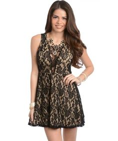 Feellib Women's Sleeveless Short Dress Large Black Cream With Inner Lining Feellib http://www.amazon.com/dp/B00IOA7LPU/ref=cm_sw_r_pi_dp_ofrRtb1RA9EQDGVN