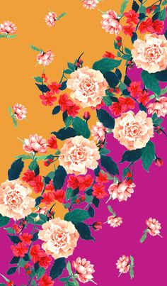 New Wallpaper Iphone Floral Behance 59 Ideas Flower Backgrounds, Flower Wallpaper, Pattern Wallpaper, Wallpaper Backgrounds, Textures Patterns, Print Patterns, Textile Prints, Floral Prints, Textiles