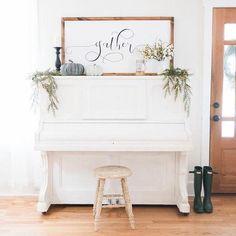 The Sign Shop - Smallwood Home Romantic Home Decor, Classic Home Decor, French Home Decor, Unique Home Decor, Cheap Home Decor, Piano Living Rooms, Rugs In Living Room, Living Room Decor, Piano Room Decor