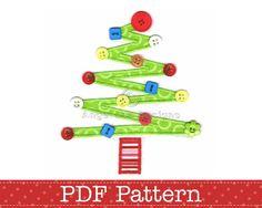 Christmas Tree Applique Template, DIY. PDF Pattern by Angel Lea Designs. $2.00, via Etsy.