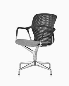 The Keyn Chair Group is an aesthetically versatile collection of meeting and side chairs for collaborative spaces that offers immediate comfort, supports people's movements, and blends into a wide range of environments. White Dining Chairs, Side Chairs, Heavy Duty Beach Chairs, Accent Chairs For Sale, Herman Miller Aeron Chair, Work Chair, Chairs For Small Spaces, Office Seating, Seat Pads