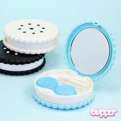 The August of next year I'm probably getting contacts and I'd love to have them in this cookie contact lenses case.