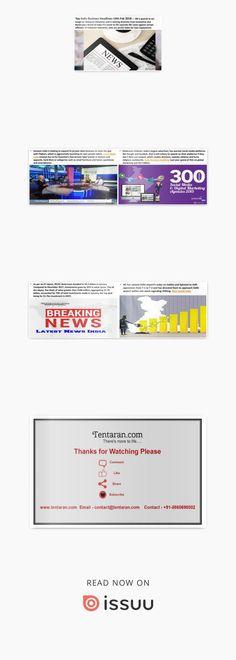 Best India business headlines  Tentaran is digital magazine for bite-size news on Latest News India, Business news, Sports, Travel, Entertainment, Spirituality, Deal