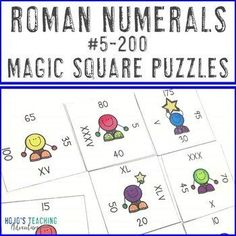 Roman Numerals Fun Activities | Supplement for Ancient Rome & the Roman Empire | 2nd, 3rd, 4th, 5th grade, Activities, Fun Stuff, Games, Homeschool, Math, Numbers, Magic Squares Math, 5th Grade Classroom, Maths Puzzles, School Themes, Roman Numerals, Ancient Rome, 5th Grades, Roman Empire, Critical Thinking