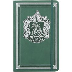 Harry Potter Slytherin Journal Hot Topic ($15) ❤ liked on Polyvore featuring home, home decor, stationery, hogwarts and harry potter