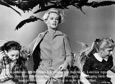 When audiences left the film's UK premiere at the Odeon, Leicester Square, London, they were greeted by the sound of screeching and flapping birds from loudspeakers hidden in the trees to scare the...