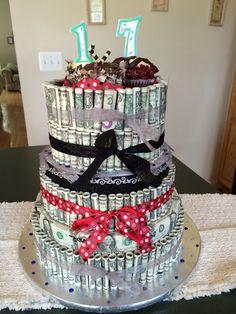 images about Money $ Cakes on Pinterest  Money cake, Birthday money ...