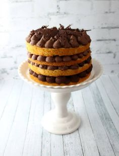 Jaffa cake inspired naked cake tutorial