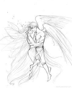 Greek Mythology • Psyche & Eros • art by Arbetta