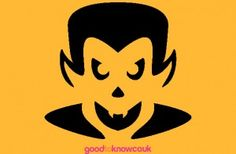 Vampire pumpkin carving pattern - Free pumpkin carving patterns but could be converted into a applique