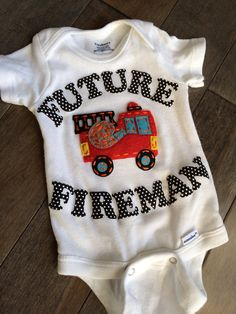 Little Fireman  Fireman baby  future Fireman  by TinyTotsDesign, $24.99