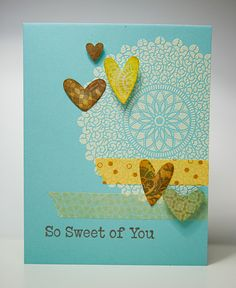 embossed and hearts