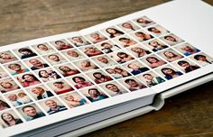 good way to do pics of guests at reception and photobooth pics.  pics should be a bit bigger though.