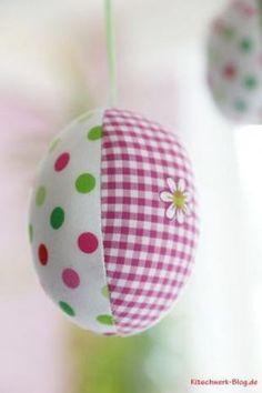 Ostereier, Ostern, freie Anleitung, free Tutorial, easter, easter eggs, Stoff, fabric, Freebook, nähen, sewing