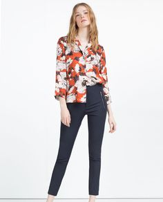 ZARA - WOMAN - MID-RISE SKINNY TROUSERS