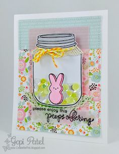 Create Me Pink: Easter Card using Simon Says Stamp Card Kit of the Month MARCH 2016