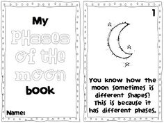 My Phases of the Moon Book  FREE!  A day in first grade: Blast Off to the MOON!