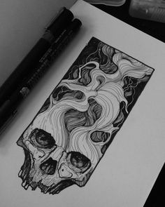 If the shoe fitz drawing в 2019 г. art, tattoo designs и Dark Art Drawings, Art Drawings Sketches, Cool Skull Drawings, Black Pen Sketches, Black Pen Drawing, Smoke Drawing, Tattoo Drawings, Tattoos, Ink Illustrations