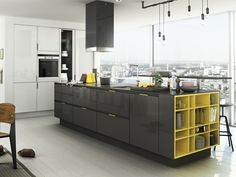 LINEAR FITTED KITCHEN WITH HANDLES OPERA   LINEAR KITCHEN   SNAIDERO