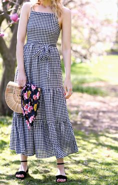 Frock Fashion, Boho Fashion, Fashion Outfits, Simple Dresses, Casual Dresses, Summer Dresses, Western Dresses For Girl, Gingham Dress, Chic Dress