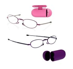 41f85080604 Foster Grant GWENDOLYN Folding Reading Glasses COMPACT +1.50 2.00 2.50 PINK   FosterGrant Reading Glasses