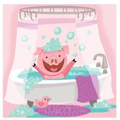 I've found that if you get the urge to do something, you should just go ahead and do it... even if that urge is to draw a pig in a bathtub for absolutely no reason whatsoever. I have no idea why I pissed away a perfectly nice Sunday afternoon making this, but I've learned that It's almost never for nothing. #trusttheprocess